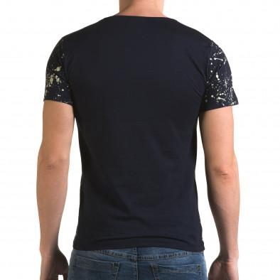 Мъжка синьо-бяла тениска Represent Lagos 4