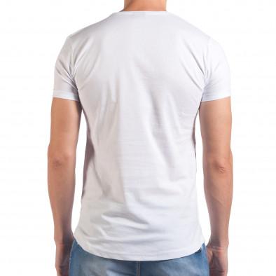Мъжка бяла тениска с череп и знаме il060616-89 3