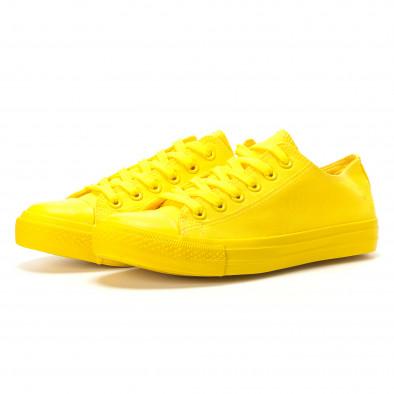 Мъжки жълти кецове с гумена част отпред it260117-39 3