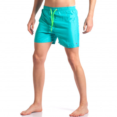 Мъжки светло сини бански с джобове Graceful 4