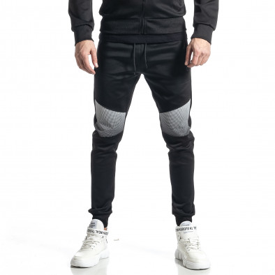 Мъжки черен анцуг Biker style it010221-53 4
