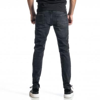 Long Slim дънки плътен деним в черно tr010221-29 3