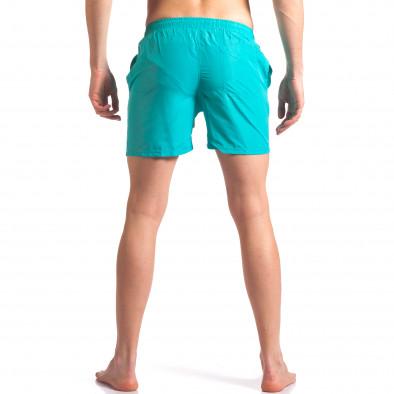 Светло сини мъжки бански с лого tsf250416-69 3
