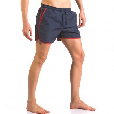 Мъжки тъмно сини бански шорти с удобни джобове Parablu 5
