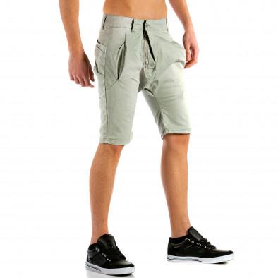 Мъжки сиви къси панталони тип потури ca300315-31 4