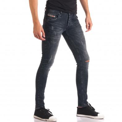 Мъжки сиви дънки със скъсвания на коленете it150816-33 4