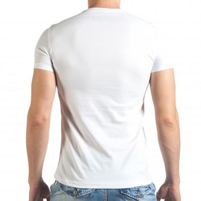 Мъжка бяла тениска с голям надпис Just Relax 4