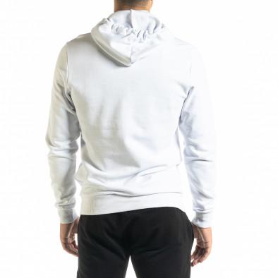 Basic мъжки бял суичър тип анорак tr020920-29 3