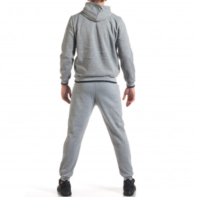 Мъжки сив спортен комплект с голям надпис it160916-69 3