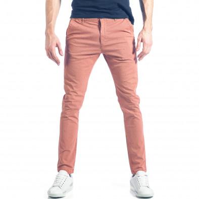 Мъжки розов панталон с малки детайли по плата it290118-35 2