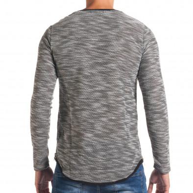 Мъжка светло сива блуза със странични ципове it180816-10 3