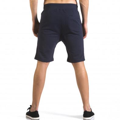 Мъжки сини шорти с цип отпред it110316-81 3