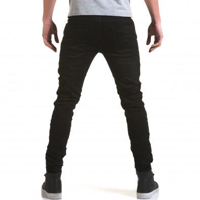 Мъжки черни дънки изчистен модел it090216-10 3