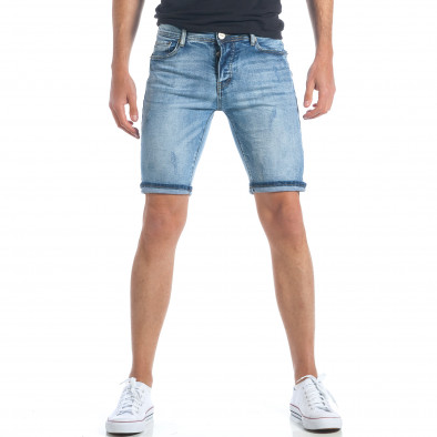 Мъжки къси дънки с малки скъсвания it190417-59 2