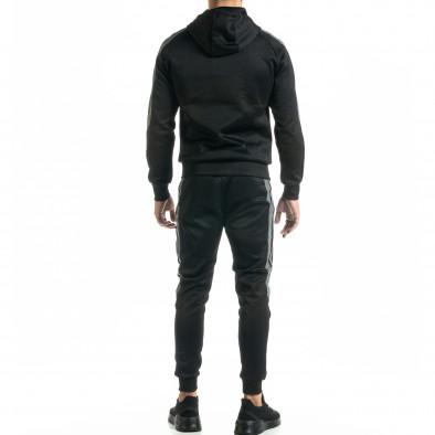 Мъжки черен анцуг с кантове it020920-21 4