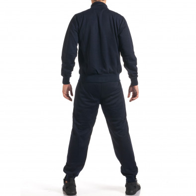 Мъжки син спортен комплект с надписи it160916-74 3