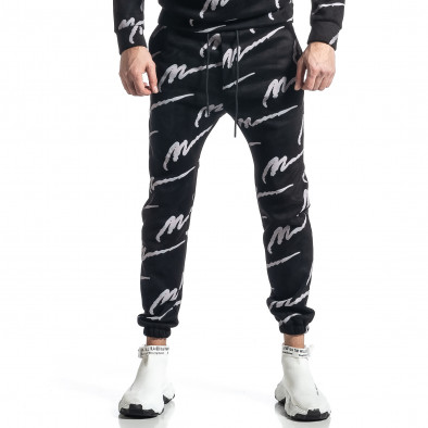 Мъжки черен спортен комплект с принт it010221-63 4