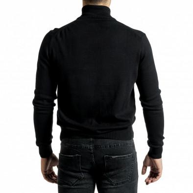 Фина мъжка жилетка с цип в черно tr231220-6 4