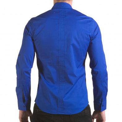 Мъжка синя риза с цип Jeanscollic 5