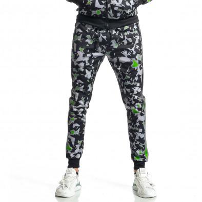 Мъжки черно-зелен анцуг All over print it010221-50 5