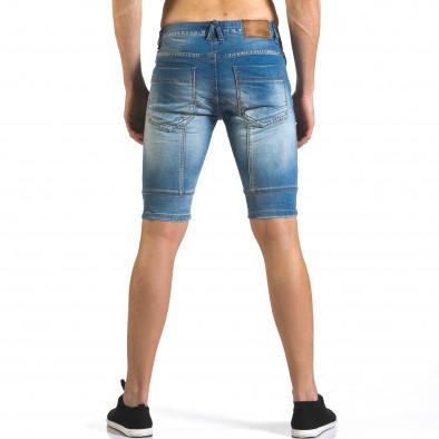 Мъжки светло сини къси дънки с допълнителни шевове it110316-62 3