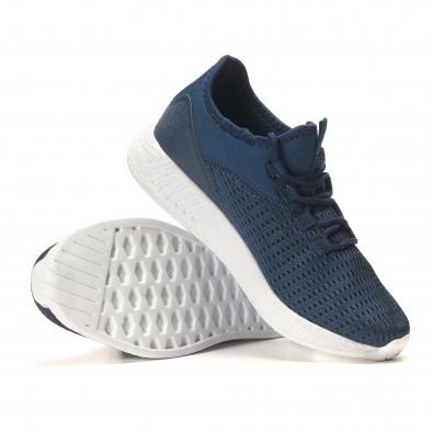 Мъжки сини маратонки от лека материя it110517-7 4