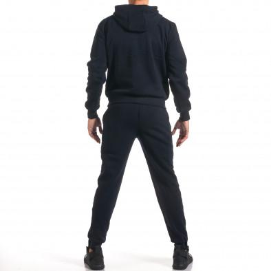 Мъжки син спортен комплект с 2 ленти отпред it160916-83 3