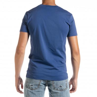 Фина мъжка тениска в синьо Amserdam it010720-24 3