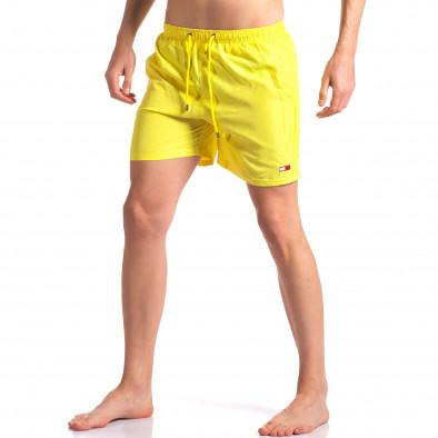 Мъжки жълти бански с малка емблема it250416-49 2