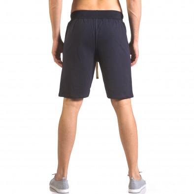 Мъжки сини шорти за фитнес с надпис Book Makers ca050416-40 3