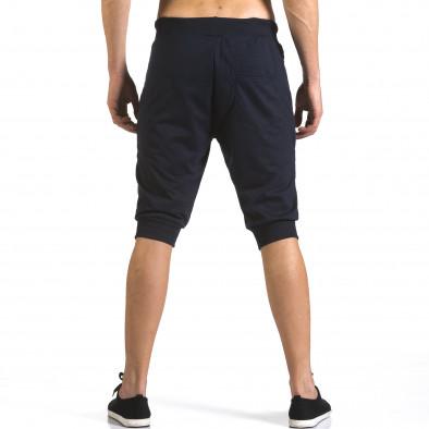 Мъжки сини къси потури с ципове на джобовете it110316-85 3