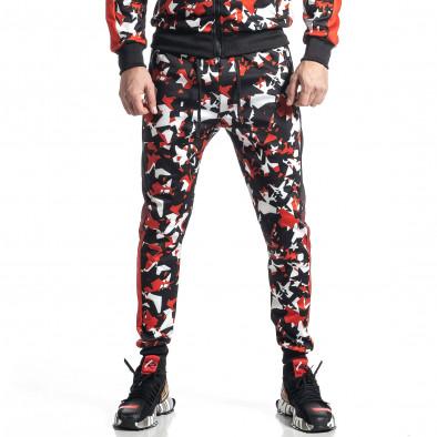 Мъжки черно-червен анцуг All over print it010221-51 5