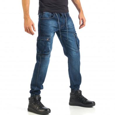 Мъжки дънки с джобове на крачолите и връзки it301017-12 4
