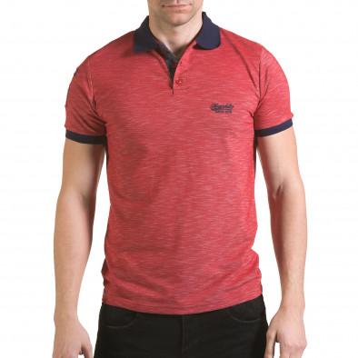 Мъжка червена тениска със синя яка Franklin 4
