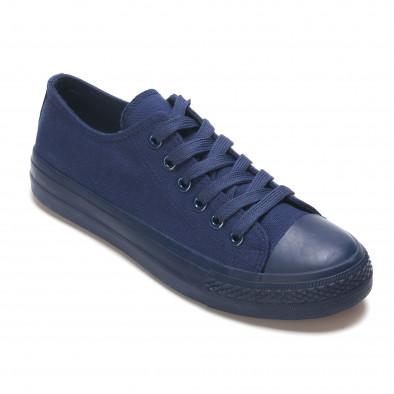 Мъжки сини кецове с връзки it190516-6 3