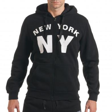 Мъжки черен спортен комплект NY it160916-64 4