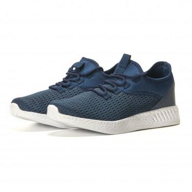 Мъжки сини маратонки от лека материя it110517-7 2