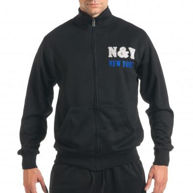 Мъжки черен спортен комплект с релефен надпис N&Y it160916-82 4