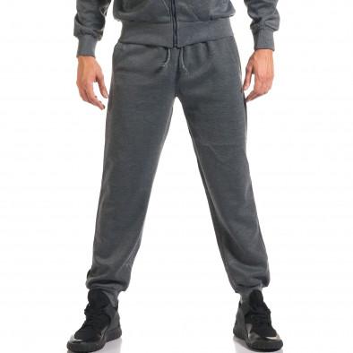 Мъжки тъмно сив спортен комплект с надписи it160916-71 5