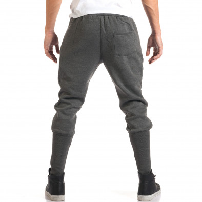 Мъжки сиви потури с ластична част под коленете it160916-33 3