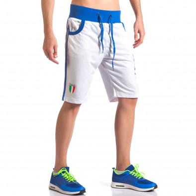 Мъжки бели шорти Italia it260416-17 4