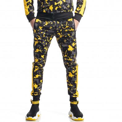 Мъжки анцуг черно-жълт All over print it010221-52 4