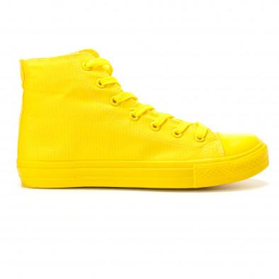 Мъжки жълти високи кецове с гумена част отпред it260117-36 2