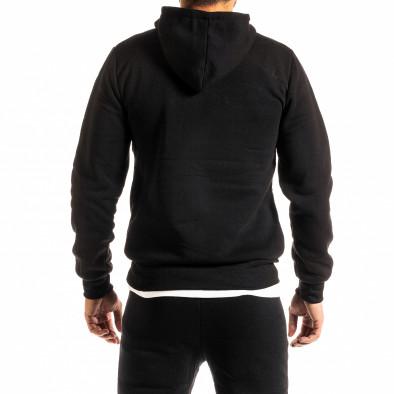 Мъжки черен суичър тип анорак Brooklyn it300920-34 3