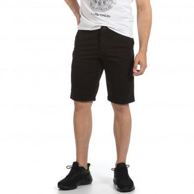 Мъжки черни къси панталони & Big Size tr040621-26 2