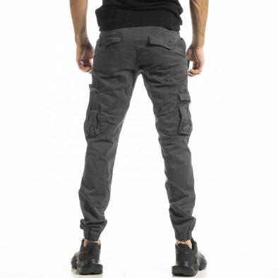 Сив мъжки панталон Cargo Jogger tr161220-20 3