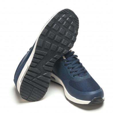 Мъжки тъмно сини маратонки с камери на подметките it210416-8 4