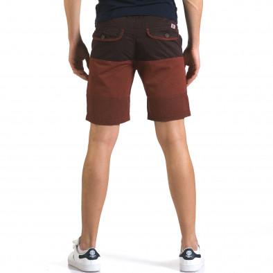 Мъжки червени къси панталони с лилава горна част TMK 5
