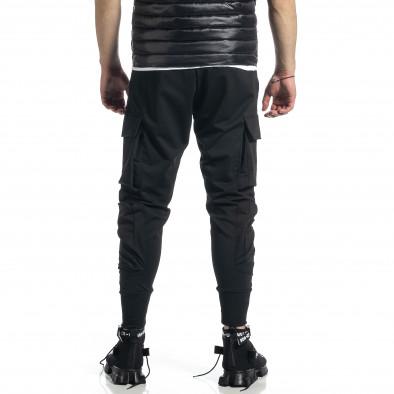 Мъжко черно долнище с обемни джобове gr270221-11 3