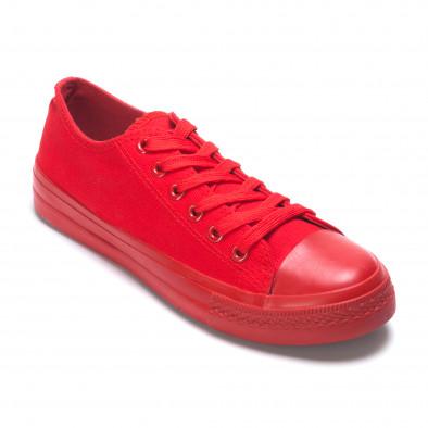 Мъжки червени кецове с гумена част отпред it260117-38 3